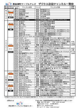 地上1 NHK総合 総合 NHK総合テレビ 地上2 NHK教育 総合 NHK教育