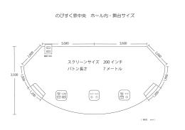 のびすく泉中央 ホール内・舞台サイズ