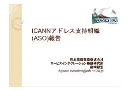 ICANNアドレス支持組織 (ASO)報告