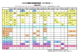 くわみず病院外来医師体制表(2015年4月~)