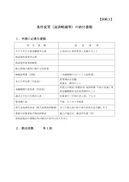 条件変更の添付書類案内(PDF:5KB)