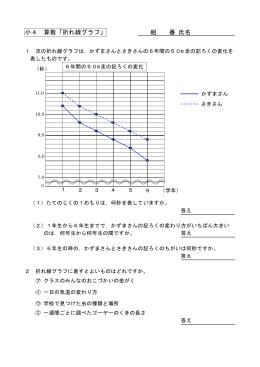 小4 算数「折れ線グラフ」 組 番 氏名