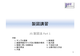 機械製図 JIS製図法1
