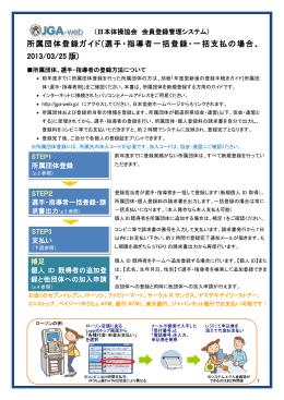所属団体登録ガイド - JGA-Web (公財)日本体操協会 会員登録管理