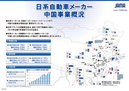 日系自動車メーカー 中国事業概況 日系自動車メーカー 中国事業概況