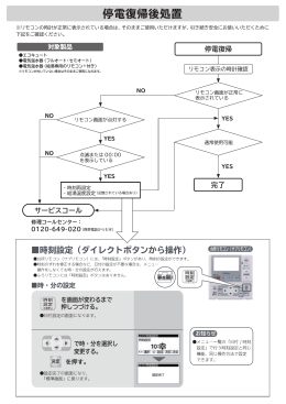 停電復帰後処置について (PDF形式、544kバイト)