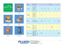 フジミ製品 標準荷姿一覧表