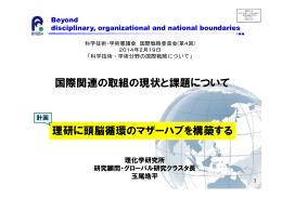 資料4 理化学研究所 玉尾グローバル研究クラスタ長発表資料 (PDF