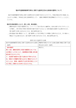 福井市道路移動等円滑化に関する基準を定める条例の運用について