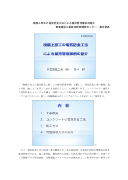 桟橋上部工の電気防食工法による維持管理事例の紹介 東亜建設工業