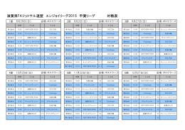 滋賀県FAフットサル連盟 エンジョイリーグ2015 甲賀リーグ 対戦表