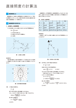 直接照度の計算法
