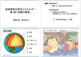 地域環境の保全とエネルギー 第7回「地圏の概要」