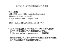 iRFP670  と  iRFP713(従来のiRFP)の比較   ・HEp