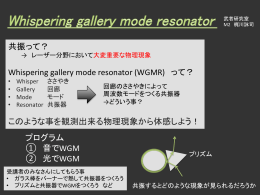 共振って? Whispering gallery mode resonator (WGMR) って? この