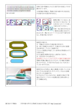 洋裁工房の型紙はこのように貼り合わせ図というの