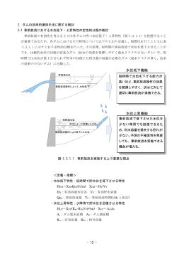 - 12 - 2.ダムの効率的運用手法に関する検討 2