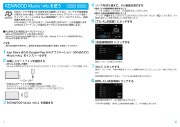 KENWOOD Music Info.を使う