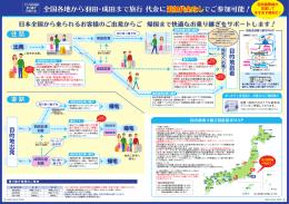 全国各地から羽田・成田まで旅行 代金に でご参加可能! 追加