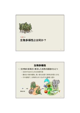 2. 生物多様性とは何か PDF:801KB