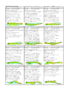 SouthLinks Course Guide サウスリンクス コースガイド distance:m 距離