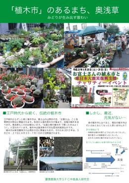 しかし、最近、 元気がない… 江戸時代から続く、伝統の植木市 みどりが
