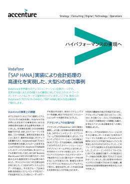 「SAP HANA」実装により会計処理の 高速化を実現した