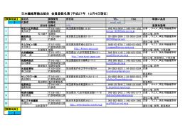 組合員名簿 - 日本繊維屑輸出組合