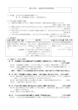 「『鳥獣戯画』を読む」の指導案 [PDFファイル/193KB]