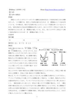 気体の製法・捕集法/気体の性質