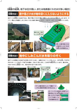地すべり対策工の詳細はこちら(PDF形式 824 キロバイト)