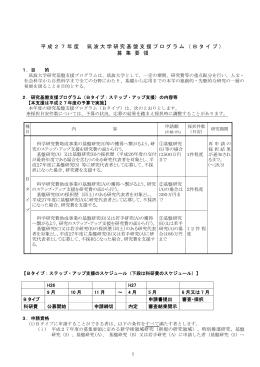 Bタイプ - 筑波大学|研究推進部研究企画課