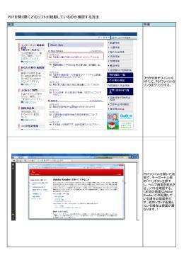 PDFを開く際にどのソフトが起動しているのか確認する方法