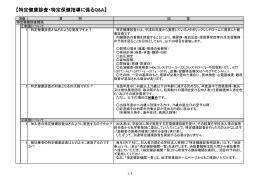 【特定健康診査・特定保健指導に係るQ&A】