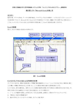 表計算ソフト・「Microsoft Excel」の使い方 はじめに Excel の画面 ヒット