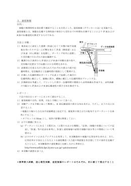3.速度検層 目的: 方法と手順: レポート: