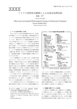 マイクロ波照射光触媒による迅速水処理技術