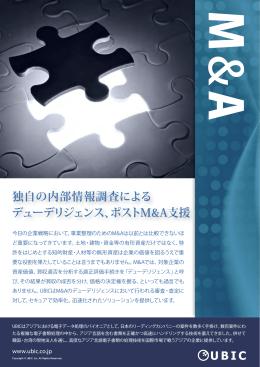 独自の内部情報調査による デューデリジェンス、ポストM&A支援