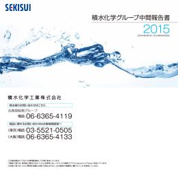 積水化学グループ中間報告書2015(541KB)