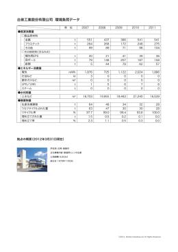 台弟工業股份有限公司 環境負荷データ
