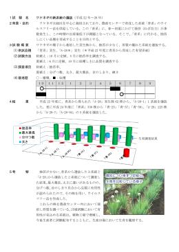 1試 験 名 ワケネギの新系統の選抜(平成 22 年~26 年) 2背景・目的