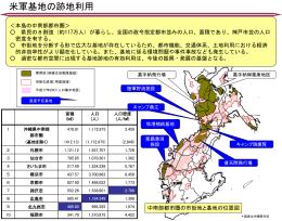 普天間飛行場など米軍基地が集中する中南部都市圏(PDF
