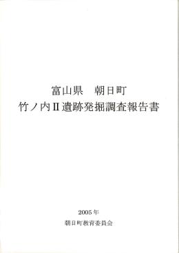 富山県 朝日町 竹ノ内耳道跡発掘調査報告白