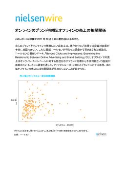 オンラインのブランド指標とオフラインの売上の相関関係