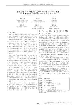特許分類コード体系に基づくオントロジーの構築