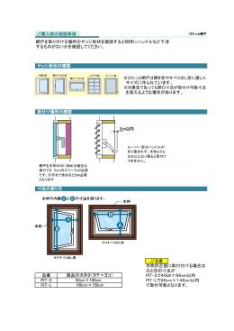 網戸を取り付ける場所のサッシ形状を確認すると同時にハンドルなど干渉