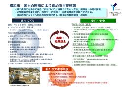 横浜市国との連携により進める主要施策(PDF形式 339KB)