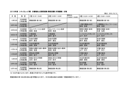 修正 2015/10/13 日 程 教 室 1限(9:10~10:40) 2限(10:50~12:20