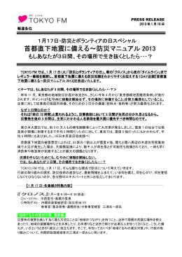 首都直下地震に備える~防災マニュアル 2013
