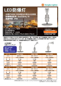水銀灯400W/250W相当の明るさを実現 防爆構造記号 : ExdⅡB+H